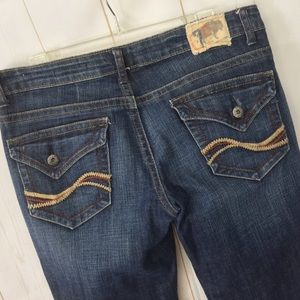 Chip & Pepper Embroidered Flare Jeans